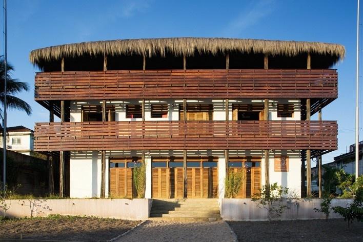 Instituto Socioambiental – ISA, São Gabriel da Cachoeira AM, 2006, escritório Brasil Arquitetura<br />Foto Daniel Ducci