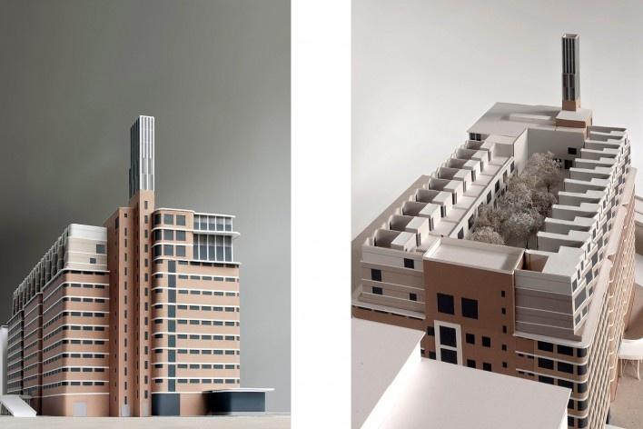 Maquete Veemgebouw, Complexo Strijp - S, projeto Caruso St. John Architects, Eindhoven, Holanda<br />Foto divulgação