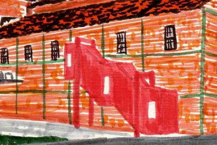 Teatro do Engenho, Piracicaba SP. Escritório Brasil Arquitetura<br />Desenho Luana Espig (detalhe), 2014