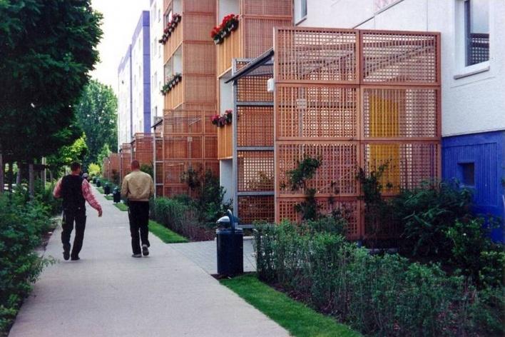 Recaracterização do Gelbes Viertel (Bairro Amarelo), Hellersdorf, Berlim <br />Foto divulgação