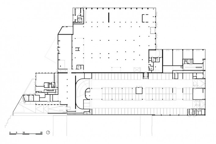 Bottière Chénaie, ground floor plan, Nantes, France, 2019. Architects Kees Kaan, Vincent Panhuysen, Dikkie Scipio (authors) / Kaan Architecten<br />Imagem divulgação/ disclosure image/ divulgation  [Kaan Architecten]