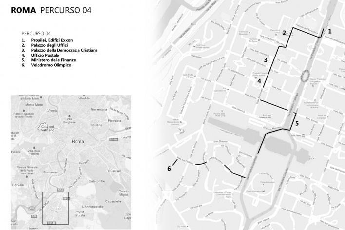 Roma, percurso 4<br />Mapa de viagem