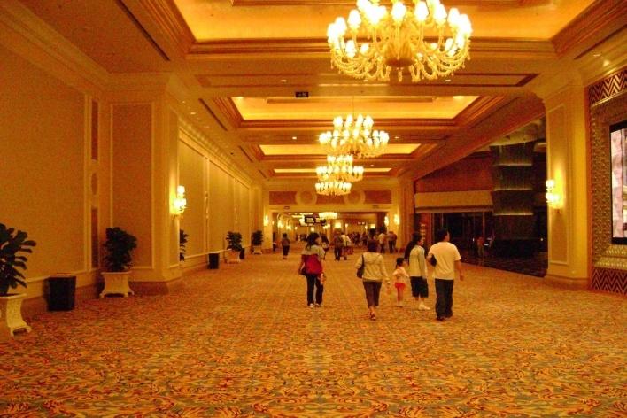 A imensidão do hotel-casino, maior que seu irmão<br />Foto Luiz Henrique Proença Soares