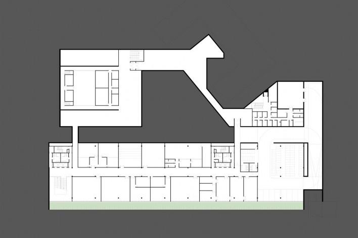 Planta Subsolo 01 – Laboratórios, Reserva Técnica, Exposição