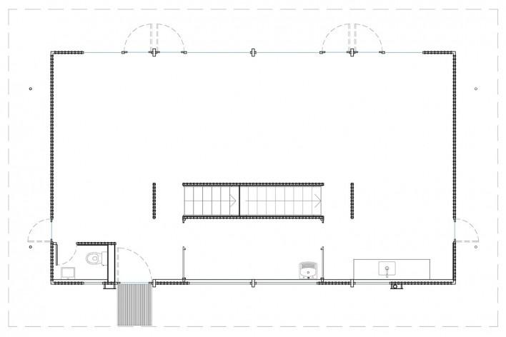 Vila Taguaí, planta piso térreo das casas 2, 5 e 7, Carapicuiba SP, 2007-2010. Arquitetos Cristina Xavier (autora), Henrique Fina, Lucia Hashizume e João Xavier (colaboradores)