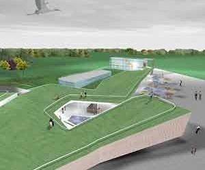 Centro Cultural e Centro Administrativo – cobertura<br />Imagem dos autores do projeto