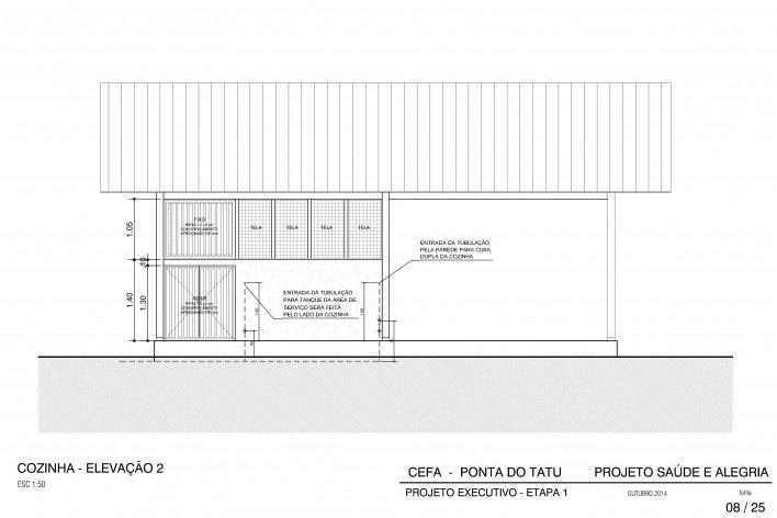 Centro Experimental Floresta Ativa - CEFA, elevação da cozinha dos técnicos, RESEX Tapajó-Arapiuns PA. Arquiteta Cristina Xavier<br />Imagem divulgação
