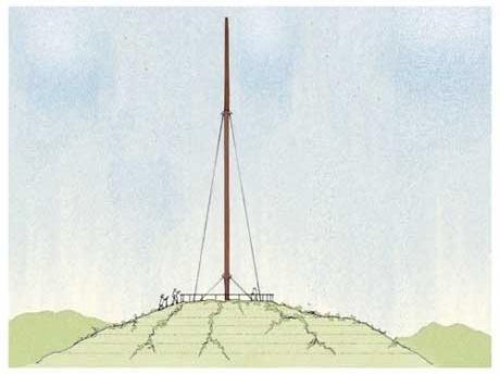 Elevação do Monumento em Porongos<br />Imagem dos autores do projeto