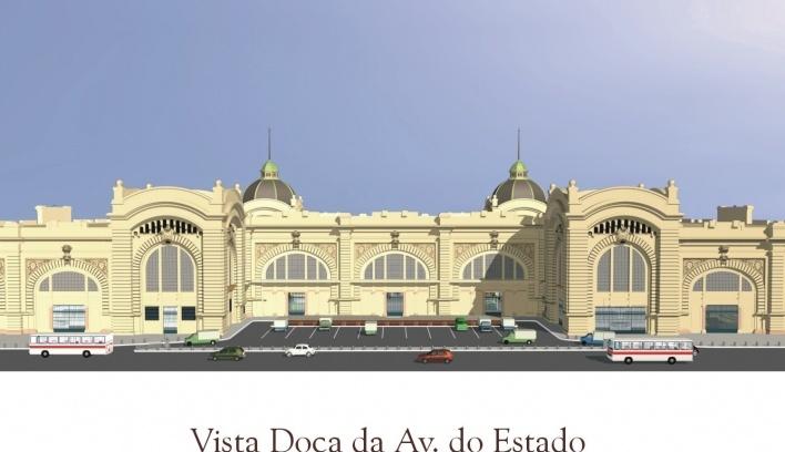 Vista da doca da Avenida do Estado<br />Imagem do autor do projeto
