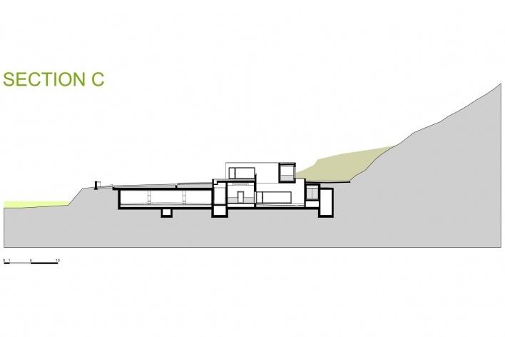 Sede da Fundação Iberê Camargo, corte C. Arquiteto Álvaro Siza, 2008<br />Desenho escritório