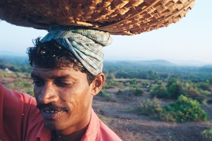 Trabalhador rural, Gokarna, Índia<br />Foto Fabricio Fernandes