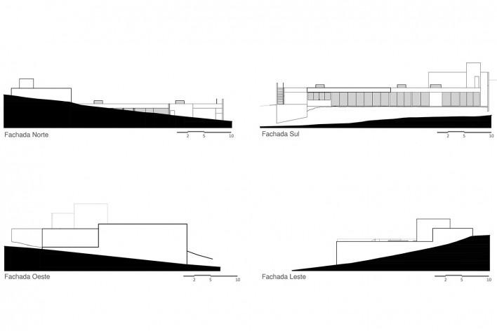 Casa Torreão, planta cobertura, Brasília DF, arquitetos Daniel Mangabeira, Henrique Coutinho e Matheus Seco<br />Imagem divulgação