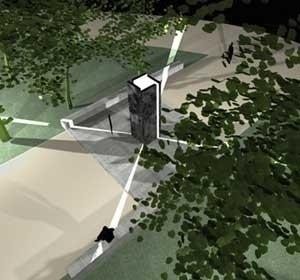 Monumento – Perspectiva      <br />Imagem dos autores do projeto