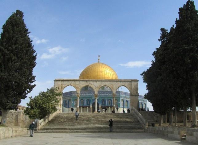 Espaços sagrados do Monte Moriah (Monte do Templo), Jerusalém<br />Foto Victor Hugo Mori, 2010