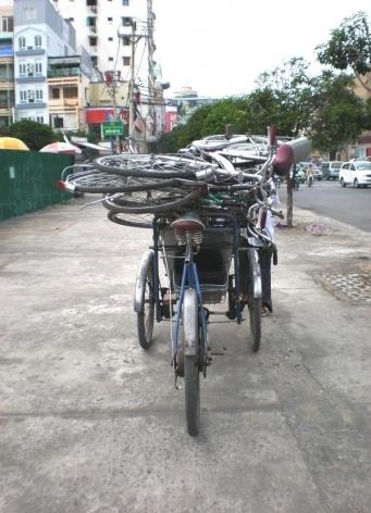 Bicicletas em Saigon<br />Foto Lucia Maria Borges de Oliveira