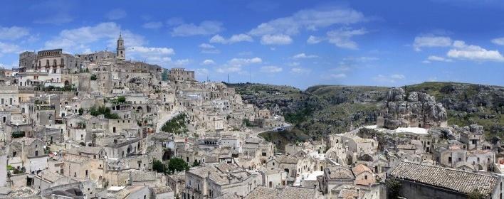 Cidade de Matera, Basilicata, Itália<br />Fotomontagem Victor Hugo Mori, 2016