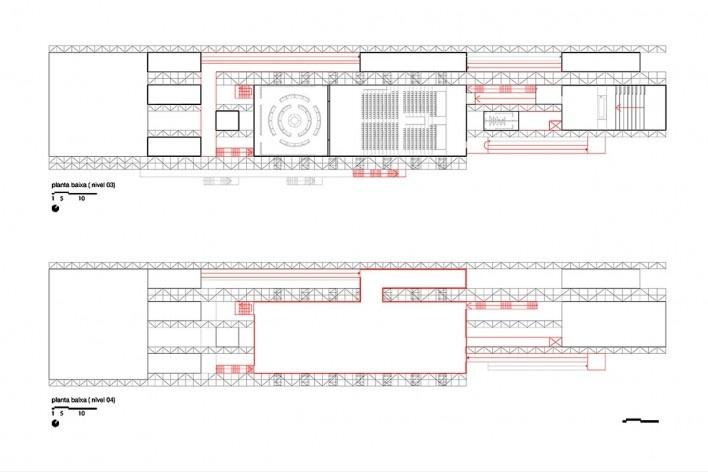 Planta baixa nível 03 e 04 - Pavilhão Humanidade 2012, Rio+ 20<br />divulgação