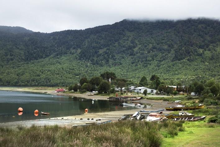 Puyuhuapi, área urbana<br />Foto Diana Souza