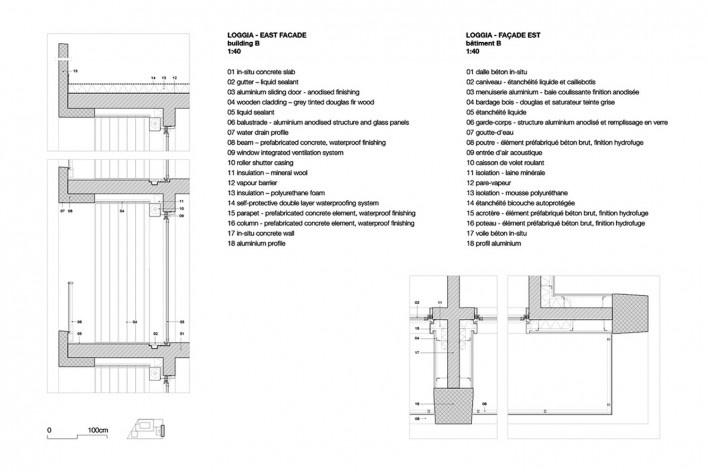Bottière Chénaie, details, Nantes, France, 2019. Architects Kees Kaan, Vincent Panhuysen, Dikkie Scipio (authors) / Kaan Architecten<br />Imagem divulgação/ disclosure image/ divulgation  [Kaan Architecten]