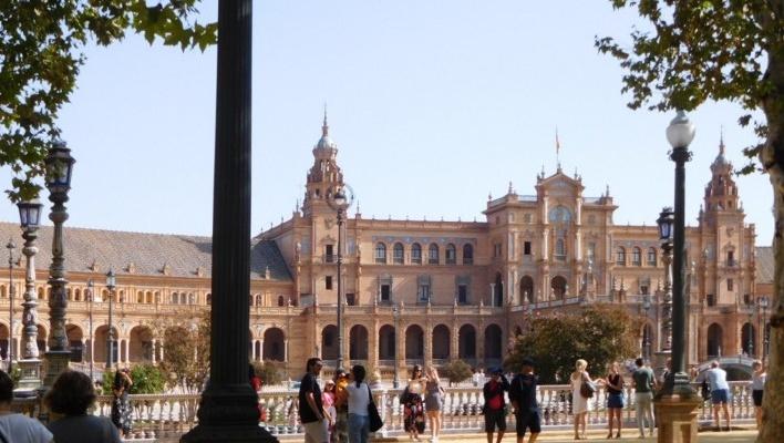 Praça de Espanha, Sevilha<br />Foto Anita Di Marco