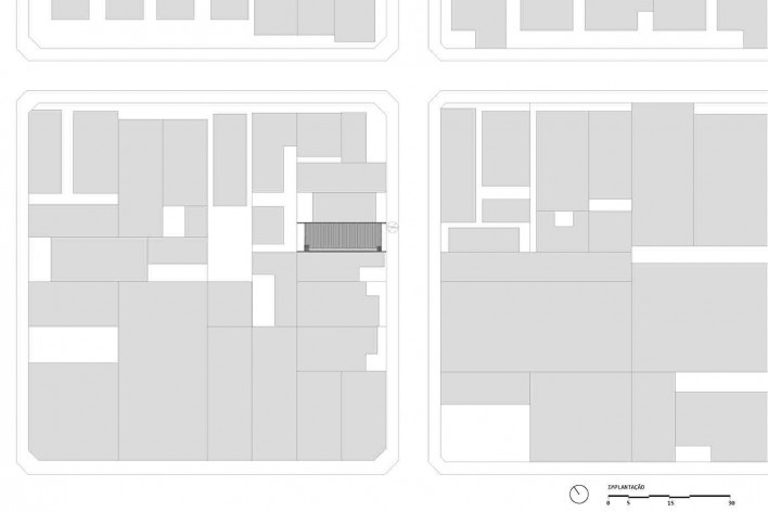 Casa-ateliê da Vila Charlote, implantação, Presidente Prudente SP, arquiteta Cristiana Pasquini<br />Imagem divulgação