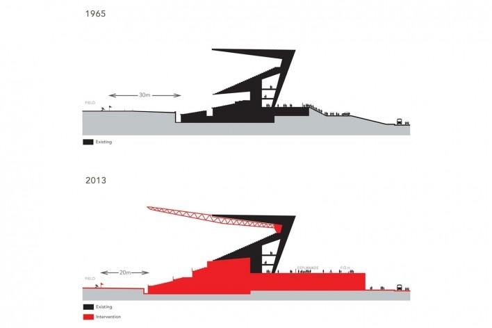 Corte Esquemático (1965-2013)<br />Desenho BCMF