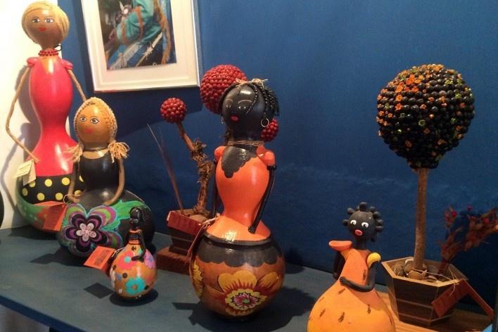 Bonecas de cabaça<br />Foto Ana Carolina Brugnera / Lucas Bernalli Fernandes Rocha