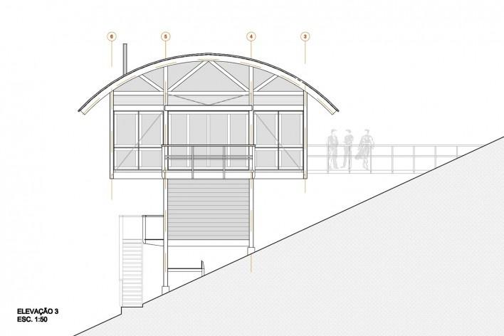 Casa do Felix, elevação 3, Praia do Felix, Ubatuba SP, arquiteto Silvio Sant'Anna<br />Imagem divulgação