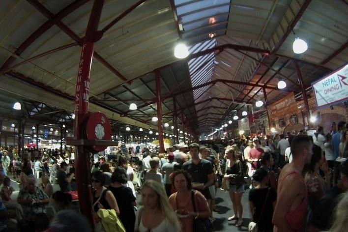O Victoria Market, um dos centros de atividade da cidade<br />Foto Gabriela Celani