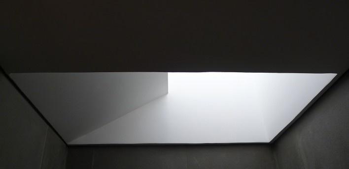 Casa Torreão, vista interna da claraboia, Brasília DF, arquitetos Daniel Mangabeira, Henrique Coutinho e Matheus Seco<br />Foto Haruo Mikami