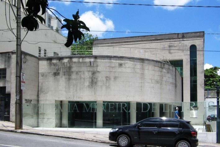 Fachada do anexo da Academia Mineira de Letras, Belo Horizonte, Minas Gerais<br />Foto Eliane Lordello, fevereiro 2010