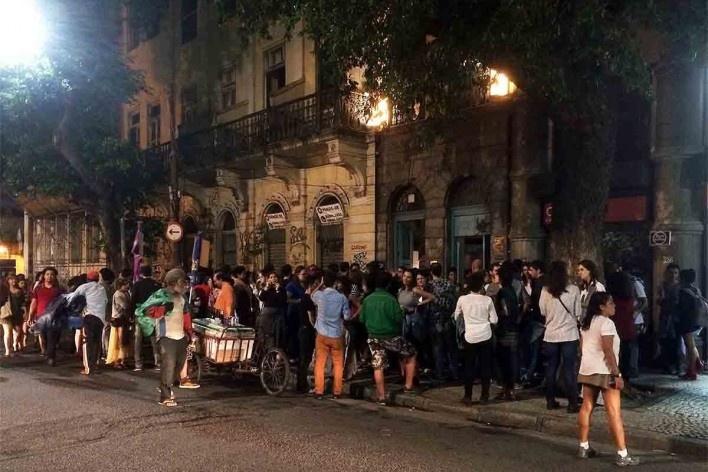 Inauguração da Casa de Estudos Urbanos no bairro da Glória, Rio de Janeiro<br />Foto Abilio Guerra