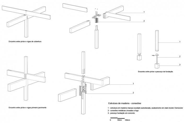Moradas infantis, detalhes da estrutura, Formoso do Araguaia TO, 2015. Escritórios Rosenbaum e Aleph Zero<br />Imagem divulgação