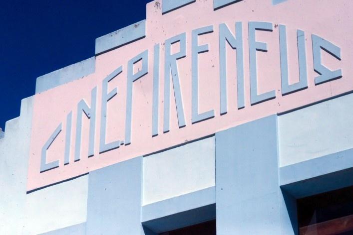 Reminiscências do Art Decó, cinema Pirineus<br />Foto Fabio Lima