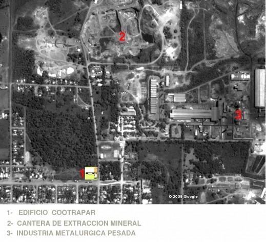 Cootrapar – cooperativa de trabajadores de aceros del Paraguay. Localización. Arq. Luis Alberto Elgue y Arq. Cynthia Solis Patri. Villa Hayes, Paraguay. 2007 – 2008.