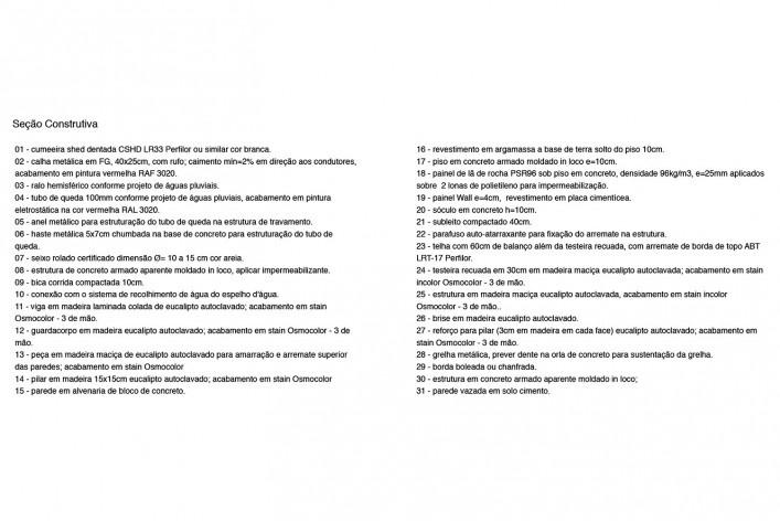 Moradas infantis, seção construtiva (índice), Formoso do Araguaia TO, 2015. Escritórios Rosenbaum e Aleph Zero<br />Imagem divulgação