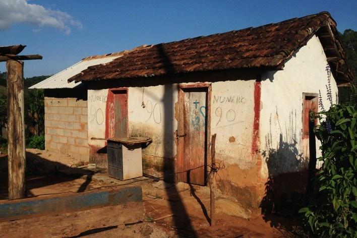 Tipo de casa, com anexo em construção<br />Foto Fabio Lima