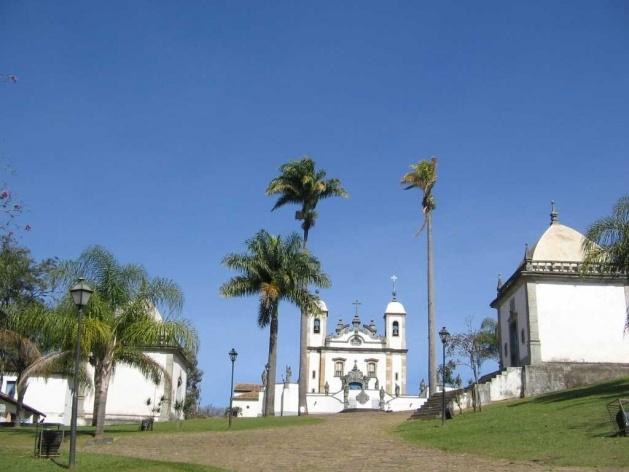 Vista do conjunto do Santuário do Senhor Bom Jesus de Matosinhos