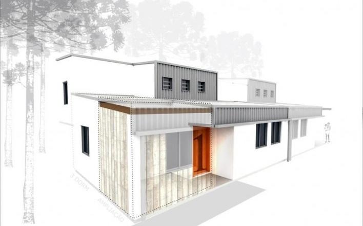 Casa Escalonada.Concurso Habitação para Todos CDHU.Casas escalonadas-Menção honrosa.<br />Autores do projeto  [escritorio premiado]
