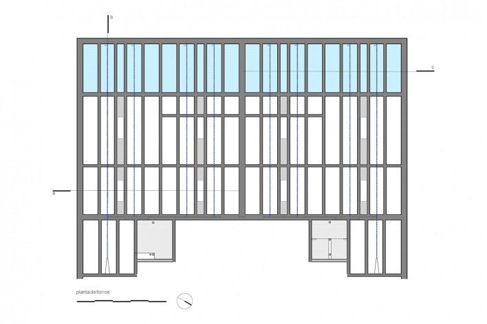 Escritório SMA, planta de forro, São Paulo SP Brasil, 2019. Arquitetos Rosário Pinho e André Scarpa / André Scarpa Arquitetura<br />Imagem divulgação  [Acervo André Scarpa Arquitetura]