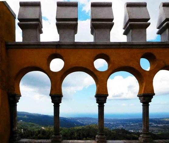 Panorama a partir do alto do Palácio da Pena, região de Sintra<br />Foto Anita Di Marco