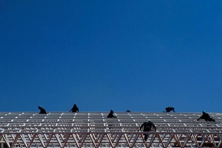 Obras do centro de convenções 2004<br />Foto Salomon Cytrynowicz