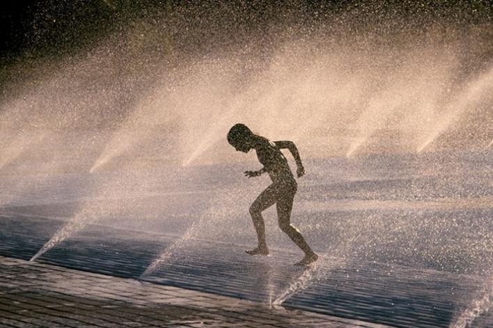 Piscina de ondas. Parque da cidade 1984<br />Foto Salomon Cytrynowicz