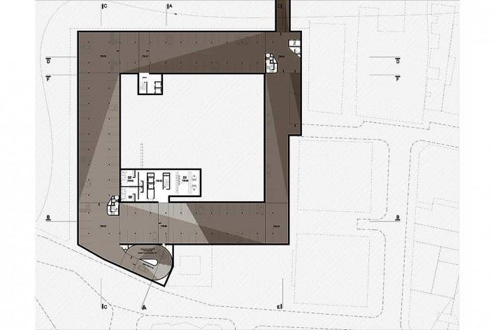 Readequação para o Pateo do Colégio, planta cota 739, São Paulo SP Brasil, 2013. Arquiteto Pedro Mendes da Rocha/ Arte 3 Arquitetura<br />Imagem divulgação  [Acervo Arte 3 Arquitetura]