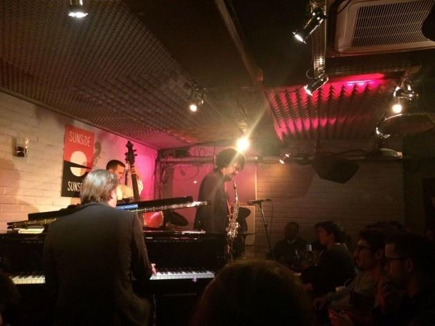 Sessão de jazz na região de Châtelet, imediações do percurso Centro<br />Foto Simone Carneiro