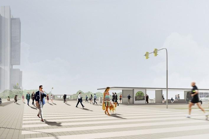 Faixa de pedestre travessia do Setor Bancário Sul. Concurso Passagens sob o Eixão. Menção honrosa 03<br />divulgação