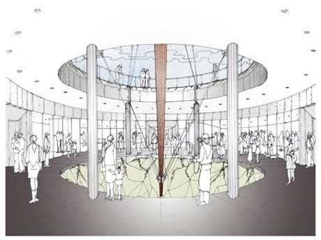 Vista interna do monumento<br />Imagem dos autores do projeto