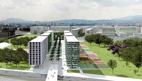 Perspectiva do parque<br />Imagem dos autores do projeto