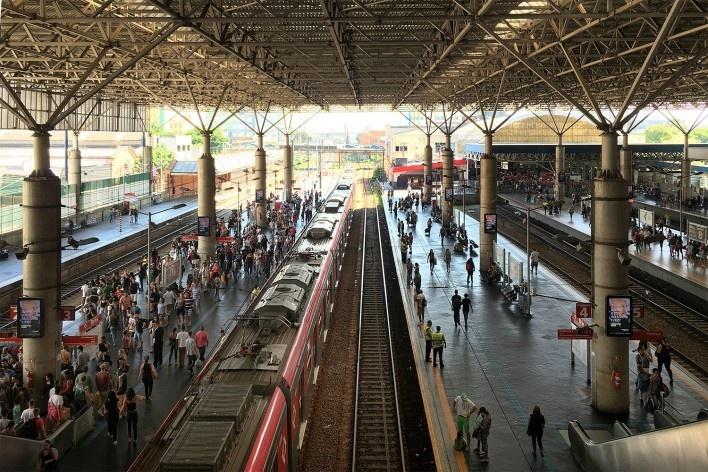Gare da Estação Brás, São Paulo<br />Foto Abilio Guerra