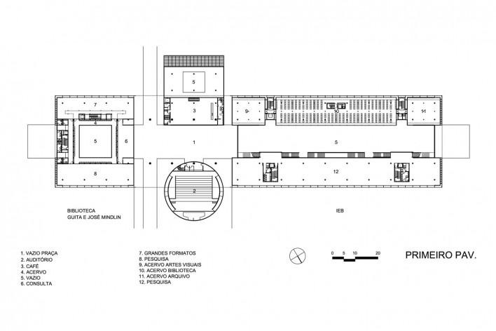 Planta primeiro pavimento - Biblioteca Brasiliana USP